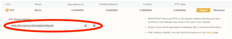 bitcoin deposit address