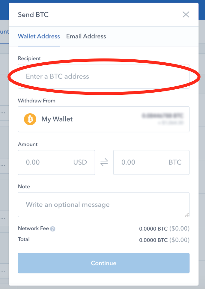 Coinbase-send-form