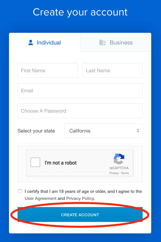 Coinbase-sign-up