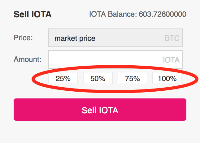 Sell-Iota-on-Binance