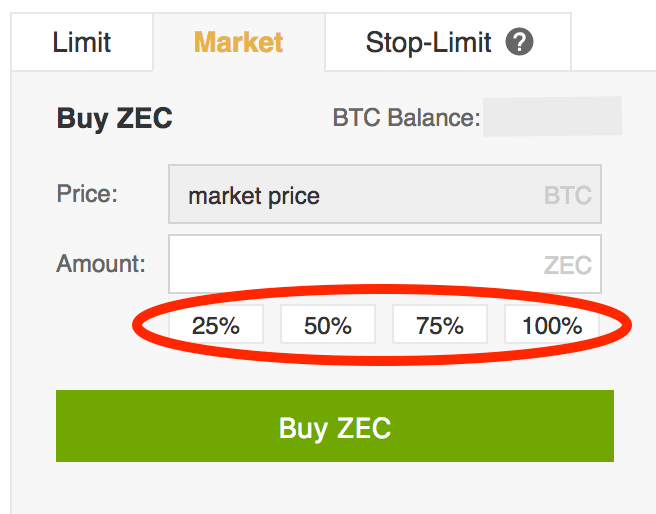 ZEC-Percentages
