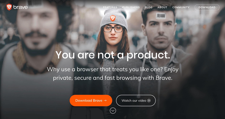 Brave-Homepage